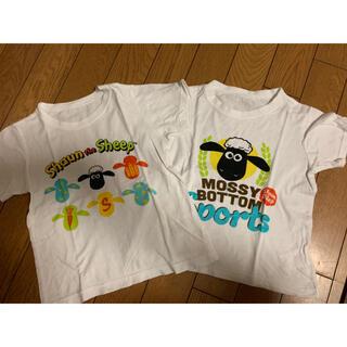 ニシマツヤ(西松屋)のひつじのショーン 半袖シャツ 肌着 2枚セット 100(下着)