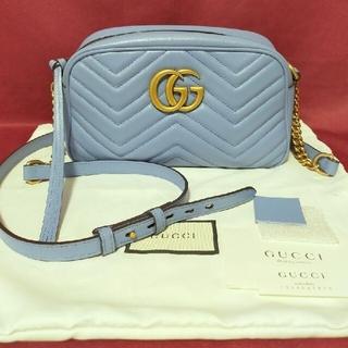 Gucci - GUCCI GGマーモント ショルダーバッグ ベージュ