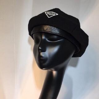 プラダ ベレー帽子 黒
