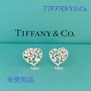 Tiffany & Co. - 未使用品TIFFANY&Co. ティファニー オリーブ リーフ ハート ピアス