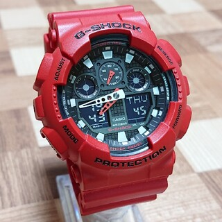 G-SHOCK - 美品【CASIO/G-SHOCK】デジアナ メンズ腕時計 GA-100B-4AJ