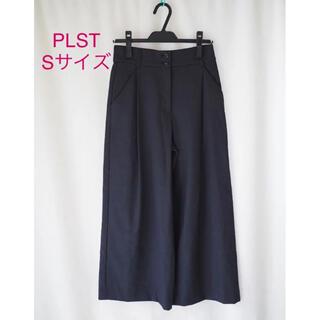 PLST - 未使用*雑誌掲載 PLST *ブランド定番*美脚 リネンブレンドセミワイドパンツ