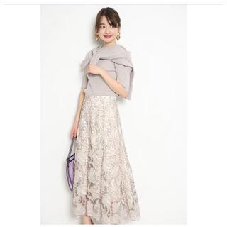 JUSGLITTY - レース刺繍フレアスカート