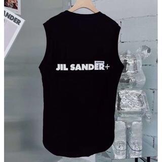 Jil Sander - JIL SANDER タンクトップ ブラック XL