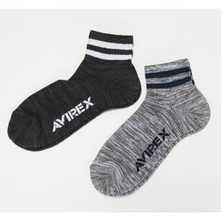 アヴィレックス(AVIREX)の《アヴィレックス》新品 ロゴ入り ショートソックス 2足セット 25~27cm(ソックス)