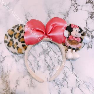 Disney - ミニーマウス レオパード カチューシャ ミニーマウスマスコット付