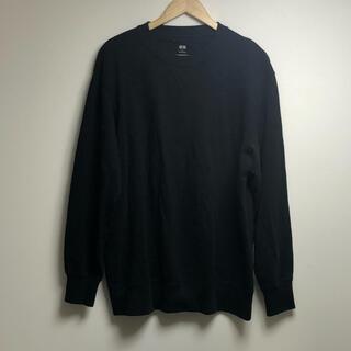 ユニクロ(UNIQLO)の美品 UNIQLO   ユニクロ ブラック トレーナー 古着 オーバーサイズ(スウェット)