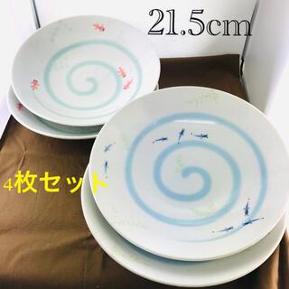 金魚 メダカ 大皿 パスタプレート 麺鉢 4枚セット