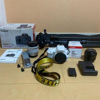 Canon - Canon EOS KISS X9 レンズキット ホワイト 三脚 単焦点付き