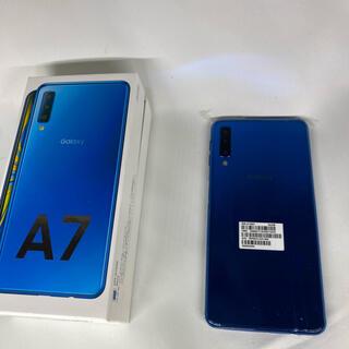 Galaxy - Galaxy A7 ブルー64 GB SIMフリー
