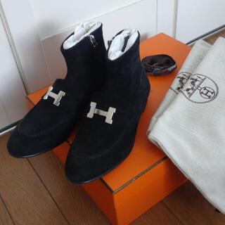 Hermes - hermes サントノーレ ショートブーツ 黒
