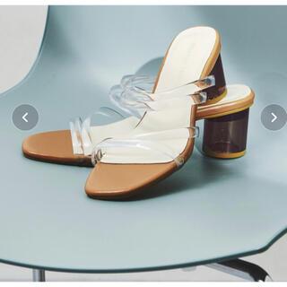 オリエンタルトラフィック(ORiental TRaffic)の新品オリエンタルトラフィック PVCストラップクリアヒールサンダル(サンダル)