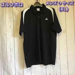 adidas - adidas ポロシャツ ゴルフシャツ メンズO(XL) ブラック×ホワイト