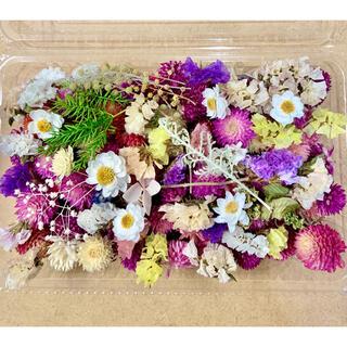 ドライフラワー花材詰合せ❁¨̮⑲千日紅100粒以上♪ハーバリウムやリースに♪小花(ドライフラワー)
