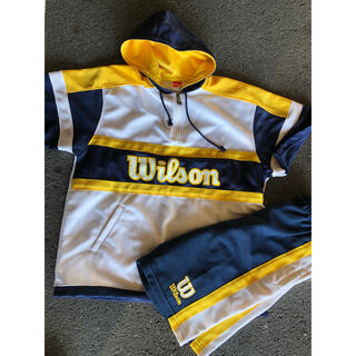 wilson - ウィルソン 上下セット  ネイビー×イエロー