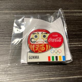 コカコーラ(コカ・コーラ)のコカコーラ 東京オリンピック 都道府県ピンバッジ だるま(ノベルティグッズ)