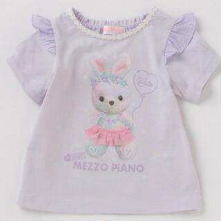 mezzo piano - メゾピアノ 夢かわウサギ転写プリントTシャツ
