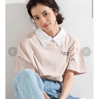 WEGO - 【wego】襟付き刺繍ロゴTシャツ