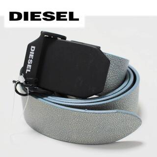 ディーゼル(DIESEL)の《ディーゼル》新品 イタリア製 穴無し スライド式 レザーベルト 100cm(ベルト)