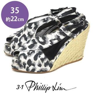 スリーワンフィリップリム(3.1 Phillip Lim)のフィリップリム ウェッジソール サンダル エスパドリーユ 35(約22cm)(サンダル)