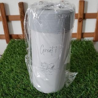 スヌーピー(SNOOPY)のrarym様専用 新品♡ スヌーピー 真空保冷ペットボトルホルダー  グレー(タンブラー)