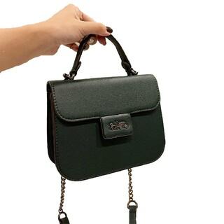 COACH - 濃い緑色のショルダーバッグハンドバッグ夏の特売#19