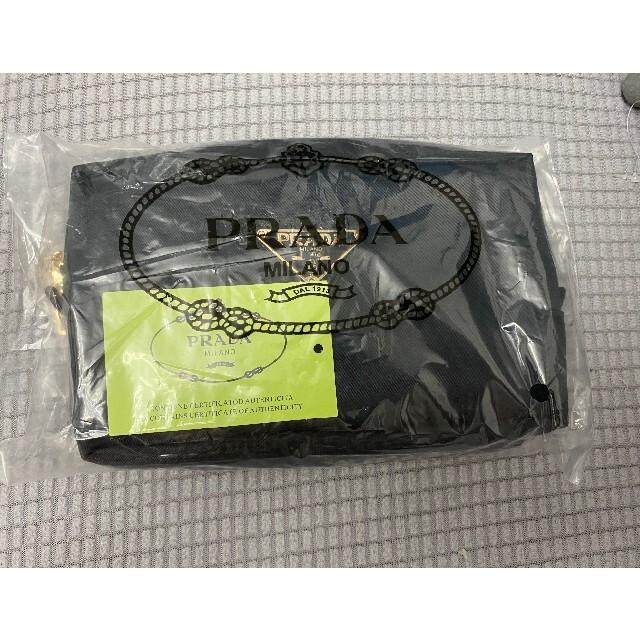 PRADA(プラダ)の♡PRADA ポーチ★化粧ポーチ ギフト品 コスメポーチ ブラック レディースのファッション小物(ポーチ)の商品写真