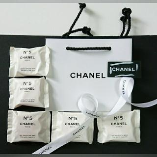 CHANEL - CHANEL N゜5  バスタブレット5個&ショッパー