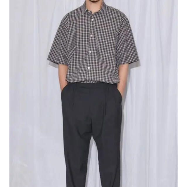 COMOLI(コモリ)のcomoli タータンチェック 半袖シャツ  コモリ シャツ メンズのトップス(シャツ)の商品写真