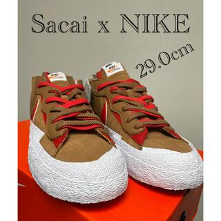 NIKE - sacai x Nike Blazer Low BRITISH TAN