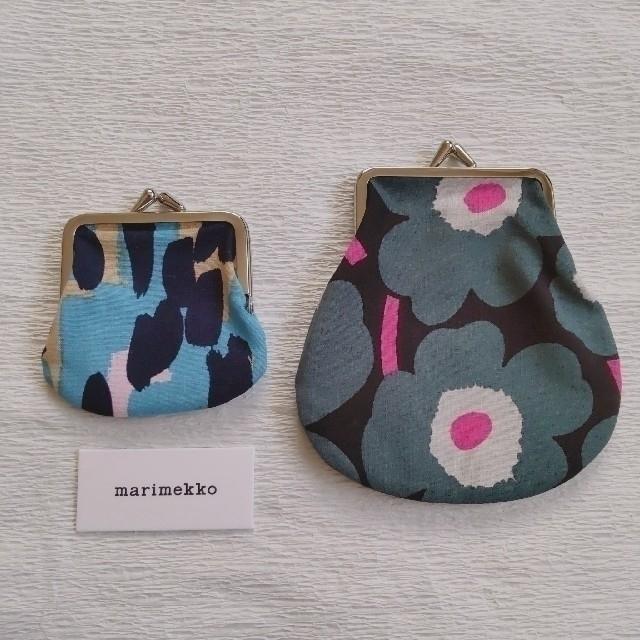 marimekko(マリメッコ)のマリメッコ がま口ポーチ セット 新品未使用 レア kaski bpg レディースのファッション小物(ポーチ)の商品写真