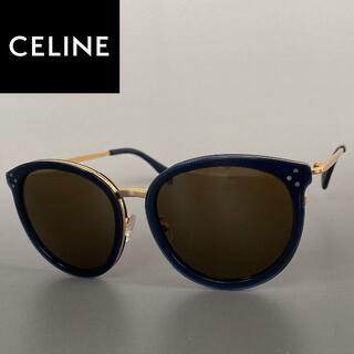 celine - サングラス CELINE セリーヌ ネイビー ゴールド キャットアイ 青 金