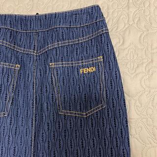 フェンディ(FENDI)の新品タグ付き FENDI フェンディ デニムロングスカート40(ロングスカート)