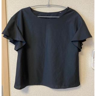 スーツカンパニー(THE SUIT COMPANY)のスーツカンパニー ネイビーブラウス(シャツ/ブラウス(半袖/袖なし))