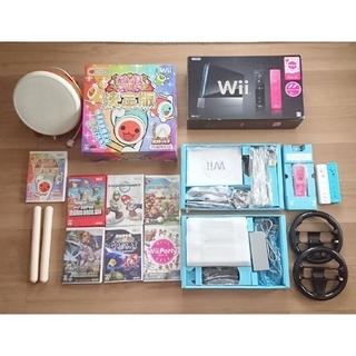 Wii - Wii本体 太鼓 ハンドル ゲームソフト7個