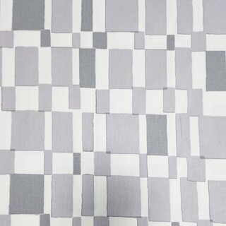 水彩画風生地 幾何学模様柄生地 グレー 110×50 オックス