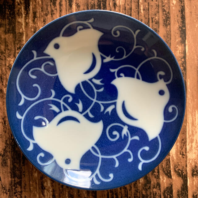 千鳥柄 小皿 5枚セット 薬味皿 醤油皿 副菜皿 和食器 美濃焼 インテリア/住まい/日用品のキッチン/食器(食器)の商品写真