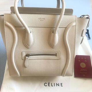 celine - セリーヌ CELINE ラゲージ マイクロ オフホワイト アイボリー