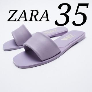 ZARA - 新品 レザー フラット サンダル 35 入手困難 完売品