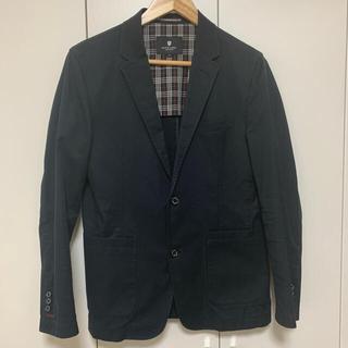 ブラックレーベルクレストブリッジ(BLACK LABEL CRESTBRIDGE)のBlack Label CRESTBRIDGE 男性 夏用黒ジャケット サイズM(テーラードジャケット)
