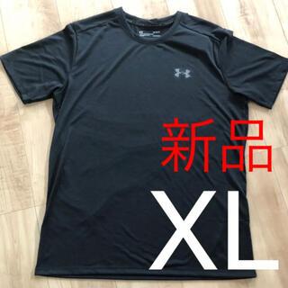 アンダーアーマー(UNDER ARMOUR)の☆新品☆アンダーアーマー メンズヒートギアTシャツ ブラック XLサイズ(Tシャツ/カットソー(半袖/袖なし))