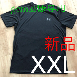 アンダーアーマー(UNDER ARMOUR)の☆新品☆アンダーアーマー メンズヒートギアTシャツ ブラック XXLサイズ(Tシャツ/カットソー(半袖/袖なし))
