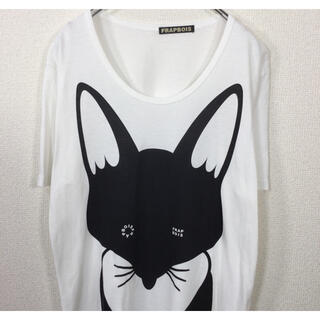 FRAPBOIS - フラボア/FRAPBOIS 半袖Tシャツ ロゴ&キツネプリント 狐 アニマル