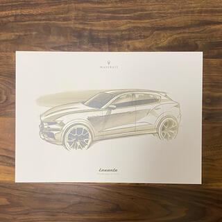 マセラティ レヴァンテ Levante Maserati  スケッチ画 絵画 絵(カタログ/マニュアル)