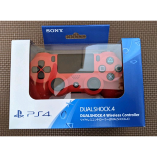 PS4 ワイヤレスコントローラー 純正 デュアルショック4 プレステ レッド 赤