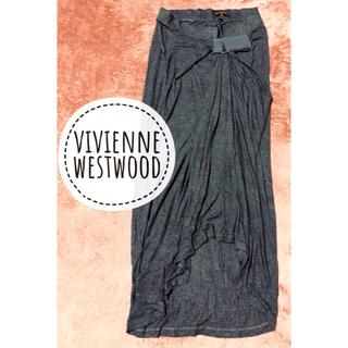 ヴィヴィアンウエストウッド(Vivienne Westwood)のVIVIENNE  WESTWOOD 薄手 変形デザイン ロング スカート(ロングスカート)