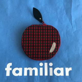 familiar - ファミリア りんごチェック コインケース 財布 USED