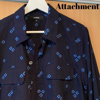ATTACHIMENT - ATTACHMENT アタッチメント ブロード シャツ 柄 幾何学 ヴィンテージ