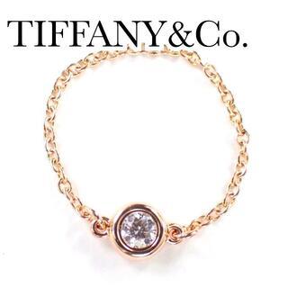 Tiffany & Co. - ティファニー TIFFANY ダイヤ K18PG バイザヤード リング 750