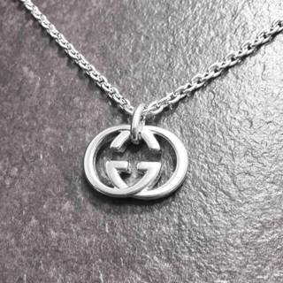 Gucci - 正規品 グッチ ネックレス シルバー SV925 GG インターロッキング 銀2
